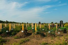 Rostov - - trekt centrale begraafplaats aan Royalty-vrije Stock Afbeelding