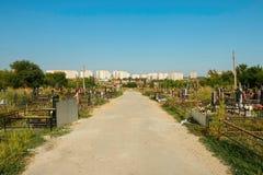 Rostov - - trekt centrale begraafplaats aan Stock Foto's