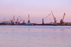 Rostov universal port. Rostov-on-Don. Russia Royalty Free Stock Photos
