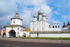 Rostov Velikiy, Rusland - kan, 05, 2016: Het Kremlin Stock Foto's