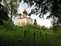 Rostovsky Borisoglebsky monastery. Monk burial ground. Russia. Rostov. June, 17, 2017. Rostov Rostovsky Borisoglebsky monastery. View of monk burial ground and Stock Images