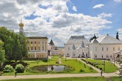 Rostow das große, der Kreml, Russland Ansicht zum See Lizenzfreie Stockbilder