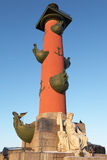 Rostral Column. Russia, St. Petersburg. Rostral Column on the arrow of Vasilevsky Island Stock Image