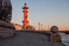 Rostral column in morning Royalty Free Stock Images