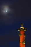 Rostral column at night. Saint-Petersburg, Russia Stock Photo