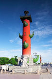 Rostral Column  in Saint Petersburg in Russia Stock Images