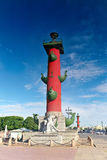 Rostral Column  in Saint Petersburg in Russia Royalty Free Stock Images