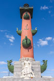 Rostral Column. In Saint-Petersburg, Russia Royalty Free Stock Photo