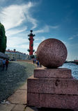 Rostral Column in Saint Petersburg, Russia Royalty Free Stock Image
