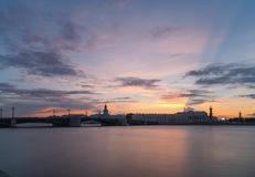 Rostral column in Saint-Petersburg Stock Photo