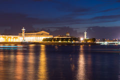 Rostral column in Saint-Petersburg Stock Image