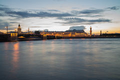 Rostral column in Saint-Petersburg Stock Photography