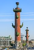 Rostral column in St Petersburg Stock Image