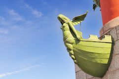 Rostral Column in St. Petersburg, Russia. Royalty Free Stock Images