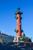 Rostral Column in St. Petersburg, Russia Stock Photo