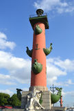 Rostral column, St.Petersburg. Stock Photos