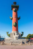 Rostral column on Vasilyevsky island. St. Petersburg, Russia Stock Photo