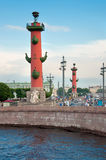 Rostral columns in Saint Petersburg Royalty Free Stock Photos