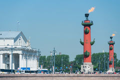 Rostral columns, St. Petersburg Stock Photography