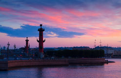 Rostral columns in summer morning Royalty Free Stock Image