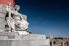 Rostral Kolomcijfer van de Oude Beurs van Heilige Petersburg Royalty-vrije Stock Foto's
