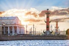 Rostral kolommen in St Petersburg Royalty-vrije Stock Afbeeldingen
