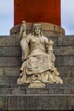 rostral kolonn petersburg saint Arkivbild