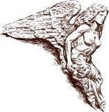 Rostral Skulptur eines Engels Stockbild