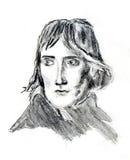 Rostro humano de la pintura Imagen de archivo libre de regalías