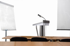 Rostrum And Microphone Royalty Free Stock Image