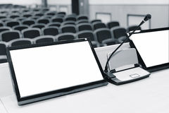 Rostrum in conference hall Stock Photography