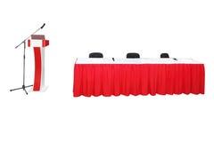 Rostrum and presidium table Stock Photography