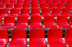 Rostrum with red seats Stock Images