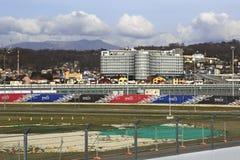 Rostrum of Sochi International Street Circuit Royalty Free Stock Images