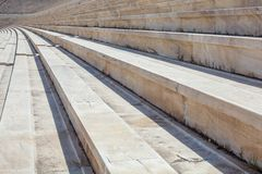 The rostrum of stone ancient stadium Royalty Free Stock Photos