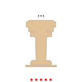 Rostrum with three microphone it is icon . Rostrum with three microphone  it is icon . Flat style Stock Photos