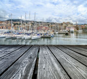 Rostrum to the sea view of Genoa Royalty Free Stock Images