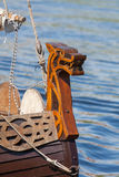 Rostrum of the Viking ship Stock Photo