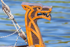 Rostrum of the Viking ship Royalty Free Stock Photography