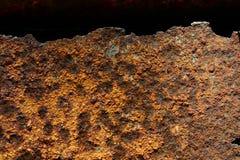 Rosttextur på svart bakgrund Royaltyfri Foto