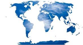 Rosttextur på världskarta Royaltyfria Bilder