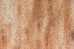 Rosttextur som metallplattan för bakgrund Fotografering för Bildbyråer