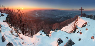 Rosty sunrise panorama Royalty Free Stock Photos