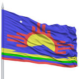 Roswell City Flag on Flagpole, USA Royalty Free Stock Photography
