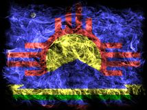 Roswell city smoke flag, New Mexico State, United States Of Amer. Ica Stock Photo