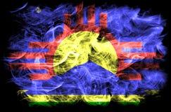 Roswell miasta dymu flaga, Nowa - Mexico stan, Stany Zjednoczone Ameryka Zdjęcia Royalty Free