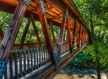Roswell Mill Covered Bridge. Covered bridge at historic Roswell Mill, Roswell, GA royalty free stock photography