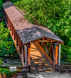 Roswell Mill Covered Bridge Royalty Free Stock Images