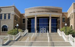 The Chaves County Courthouse Royalty Free Stock Photo