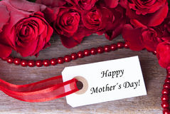 Rosy Background for Mothers Day. A Rosy Background with Label with Happy Mothers Day on it Royalty Free Stock Images